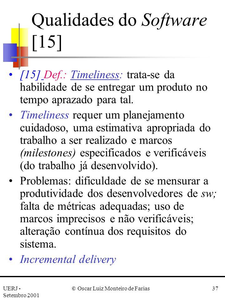 Qualidades do Software [15]